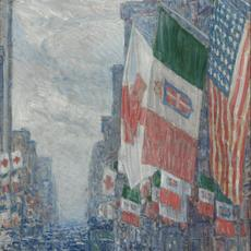 Childe Hassam, Italian Day, May 1918, 1918.  Oil on canvas.  On loan from Art Bridges